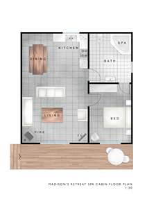 Spa Cabin Floorplan